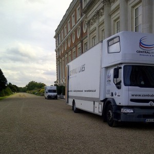 Parked outside Hampton court